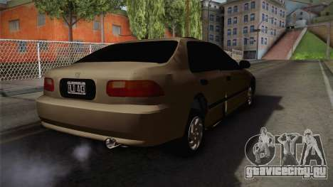 Honda Civic Sedan EX 1993 для GTA San Andreas вид сзади слева