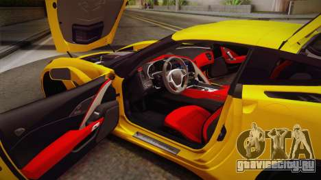 Chevrolet Corvette Stingray 2015 для GTA San Andreas вид сбоку