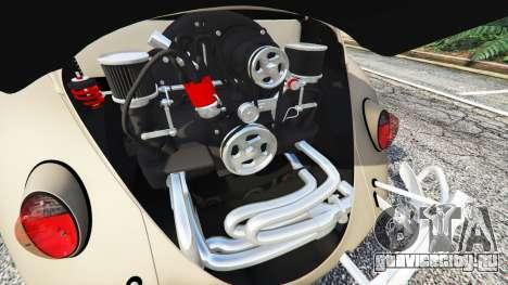 Volkswagen Fusca 1968 v0.8 [replace] для GTA 5 вид сзади справа