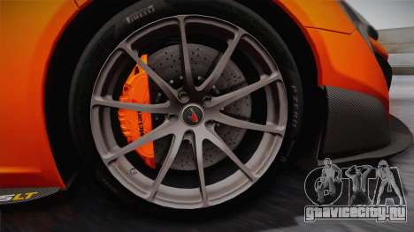 McLaren 675LT 2015 10-Spoke Wheels для GTA San Andreas вид сзади