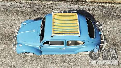 Volkswagen Fusca 1968 v0.9 [replace] для GTA 5 вид сзади