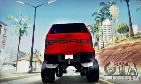 Ford F150 Raptor Long V12 для GTA San Andreas вид изнутри