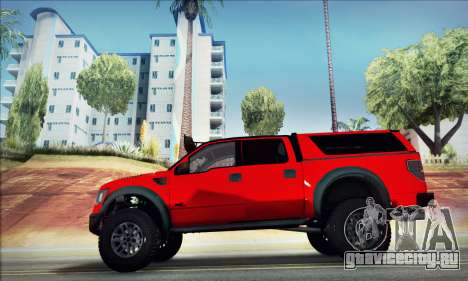 Ford F150 Raptor Long V12 для GTA San Andreas вид слева