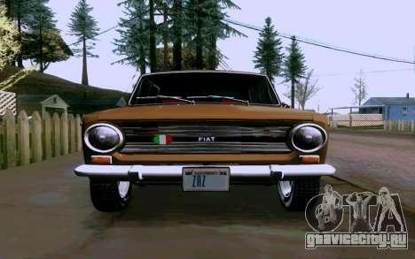 Fiat 124 для GTA San Andreas вид справа
