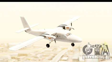 DHC-6-400 All White для GTA San Andreas вид сзади слева
