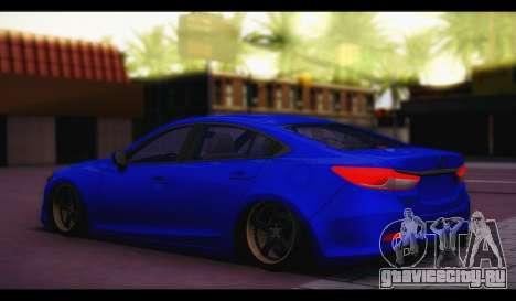 Mazda 6 Stance для GTA San Andreas вид слева