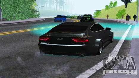 AUDI A7 SPORTSBACK для GTA San Andreas вид сзади слева