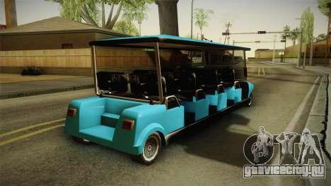 Caddy Limo для GTA San Andreas вид справа