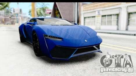 GTA 5 Pegassi Reaper SA Style для GTA San Andreas вид сзади слева