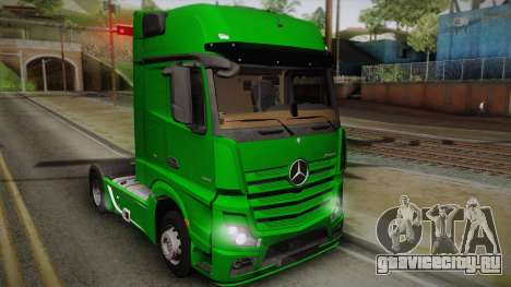 Mercedes-Benz Actros Mp4 4x2 v2.0 Gigaspace для GTA San Andreas