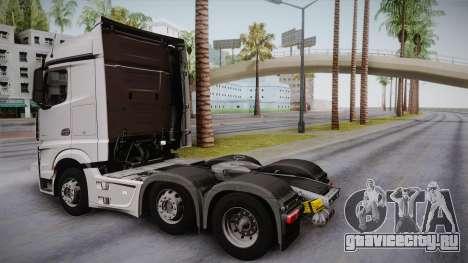Mercedes-Benz Actros Mp4 6x2 v2.0 Steamspace для GTA San Andreas вид слева