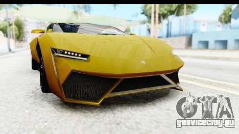 GTA 5 Pegassi Reaper IVF для GTA San Andreas вид снизу