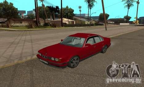 BMW 535i E34 для GTA San Andreas вид сзади слева