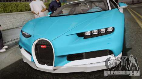 Bugatti Chiron 2017 v2.0 Korean Plate для GTA San Andreas вид справа