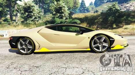 Lamborghini Centenario LP770-4 2017 [replace] для GTA 5 вид слева