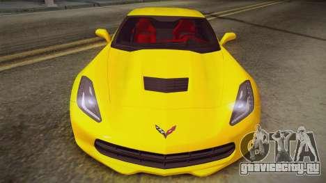 Chevrolet Corvette Stingray 2015 для GTA San Andreas вид сзади слева