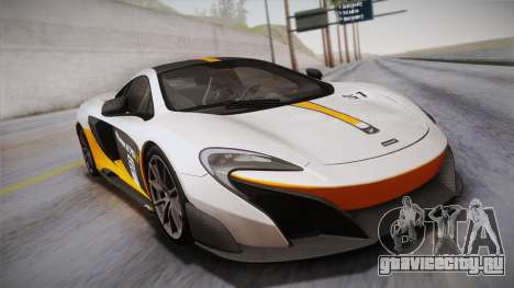 McLaren 675LT 2015 10-Spoke Wheels для GTA San Andreas вид снизу