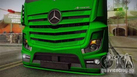Mercedes-Benz Actros Mp4 4x2 v2.0 Gigaspace для GTA San Andreas вид сзади