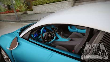 Bugatti Chiron 2017 v2.0 Korean Plate для GTA San Andreas вид изнутри