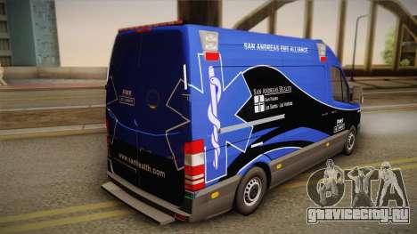 Mercedes-Benz Sprinter 2012 Midwest Ambulance для GTA San Andreas вид слева