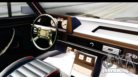 Volkswagen Passat Pointer GTS 1.8 1988 для GTA San Andreas вид изнутри
