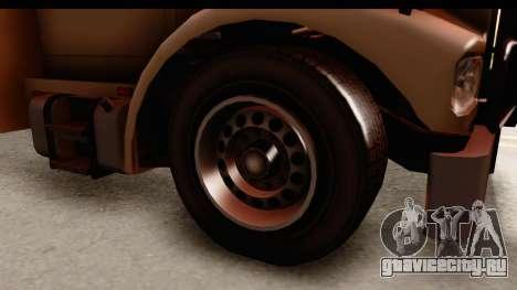 GTA 4 Vapid Benson для GTA San Andreas вид сзади