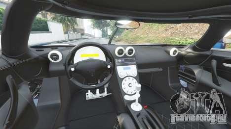 Koenigsegg CCX 2006 [Autovista] v2.0 [replace] для GTA 5 вид спереди справа