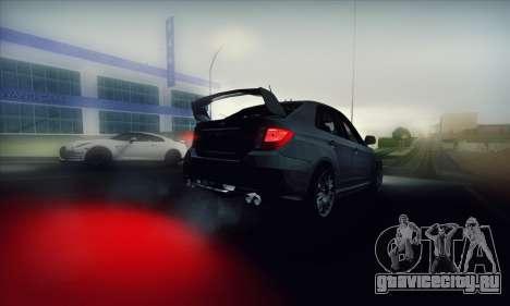 Subaru Impreza WRX STI 2011 для GTA San Andreas вид изнутри