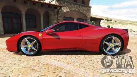 Ferrari 458 Italia v2.0 [add-on] для GTA 5 вид слева