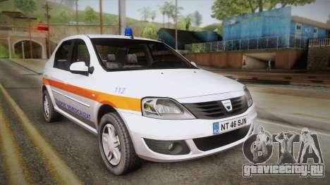 Dacia Logan Facelift Ambulanta v3 для GTA San Andreas