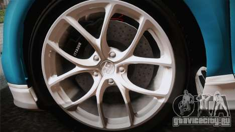 Bugatti Chiron 2017 v2.0 German Plate для GTA San Andreas вид сзади