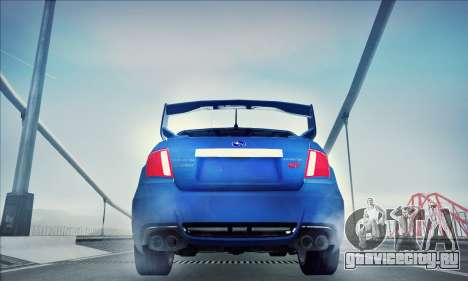 Subaru Impreza WRX STI 2011 для GTA San Andreas вид сзади слева