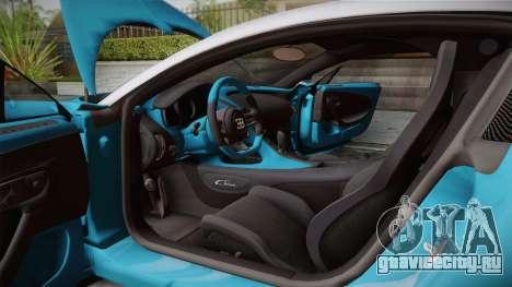 Bugatti Chiron 2017 v2.0 Korean Plate для GTA San Andreas вид снизу