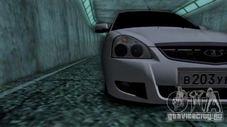 Lada Priora для GTA San Andreas вид изнутри