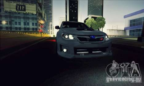 Subaru Impreza WRX STI 2011 для GTA San Andreas вид сзади