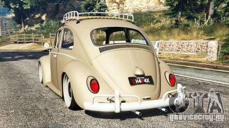 Volkswagen Fusca 1968 v0.8 [replace] для GTA 5 вид сзади слева