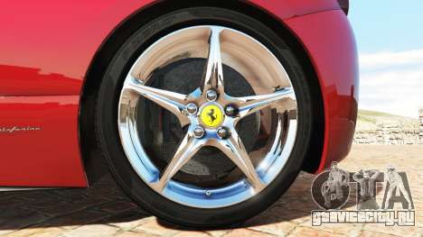 Ferrari 458 Italia v2.0 [add-on] для GTA 5 вид сзади справа