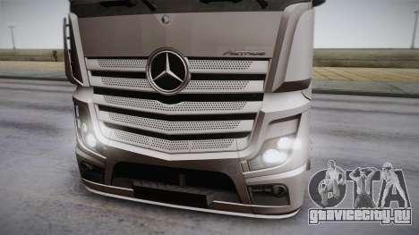 Mercedes-Benz Actros Mp4 6x2 v2.0 Steamspace для GTA San Andreas вид сзади слева