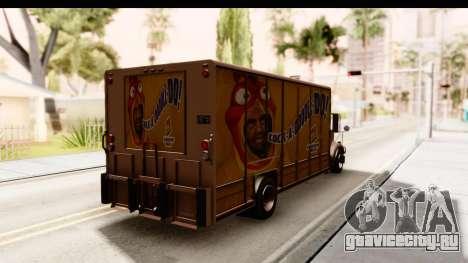 GTA 4 Vapid Benson для GTA San Andreas вид сзади слева
