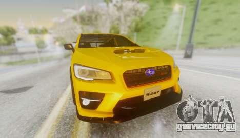 Subaru WRX STI S207 NBR CHALLENGE YELLOW EDITION для GTA San Andreas вид сзади