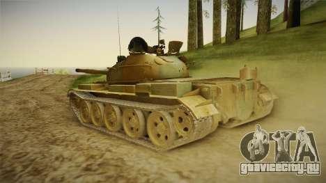 T-62 Desert Camo v2 для GTA San Andreas вид слева