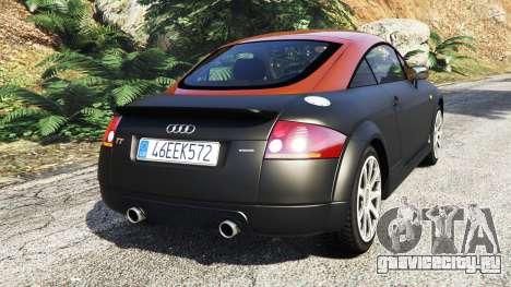 Audi TT (8N) 2004 [add-on] для GTA 5 вид сзади слева