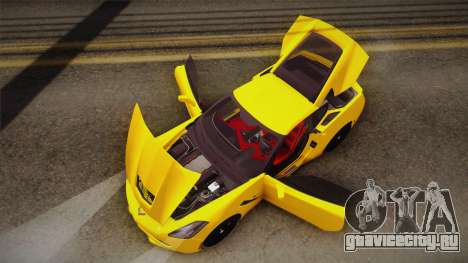 Chevrolet Corvette Stingray 2015 для GTA San Andreas вид снизу