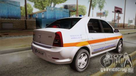 Dacia Logan Facelift Ambulanta v3 для GTA San Andreas вид слева