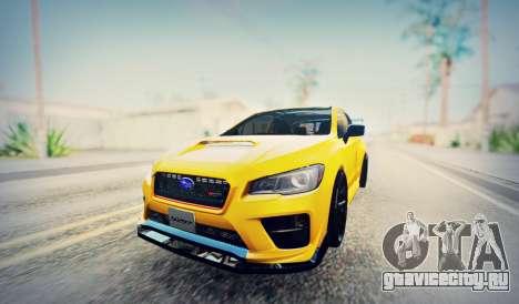 Subaru WRX STI S207 NBR CHALLENGE YELLOW EDITION для GTA San Andreas