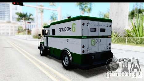 GTA 5 Stockade v1 для GTA San Andreas вид сзади слева