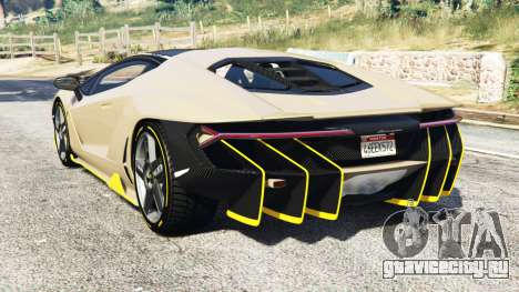 Lamborghini Centenario LP770-4 2017 [replace] для GTA 5 вид сзади слева