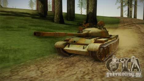 T-62 Desert Camo v2 для GTA San Andreas вид сзади слева