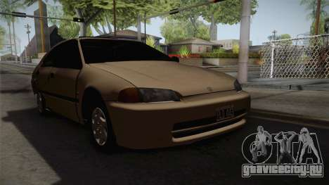 Honda Civic Sedan EX 1993 для GTA San Andreas вид справа