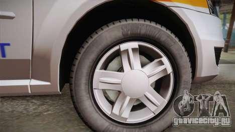 Dacia Logan Facelift Ambulanta v3 для GTA San Andreas вид сзади слева